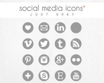 14 grey social media icons vector images social media