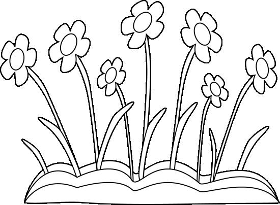 Spring Clip Art Black and White