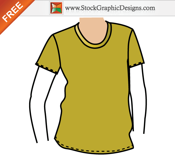 T-Shirt Mockup Vector Templates