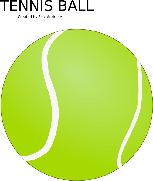 9 Photos of Tennis Ball Vector