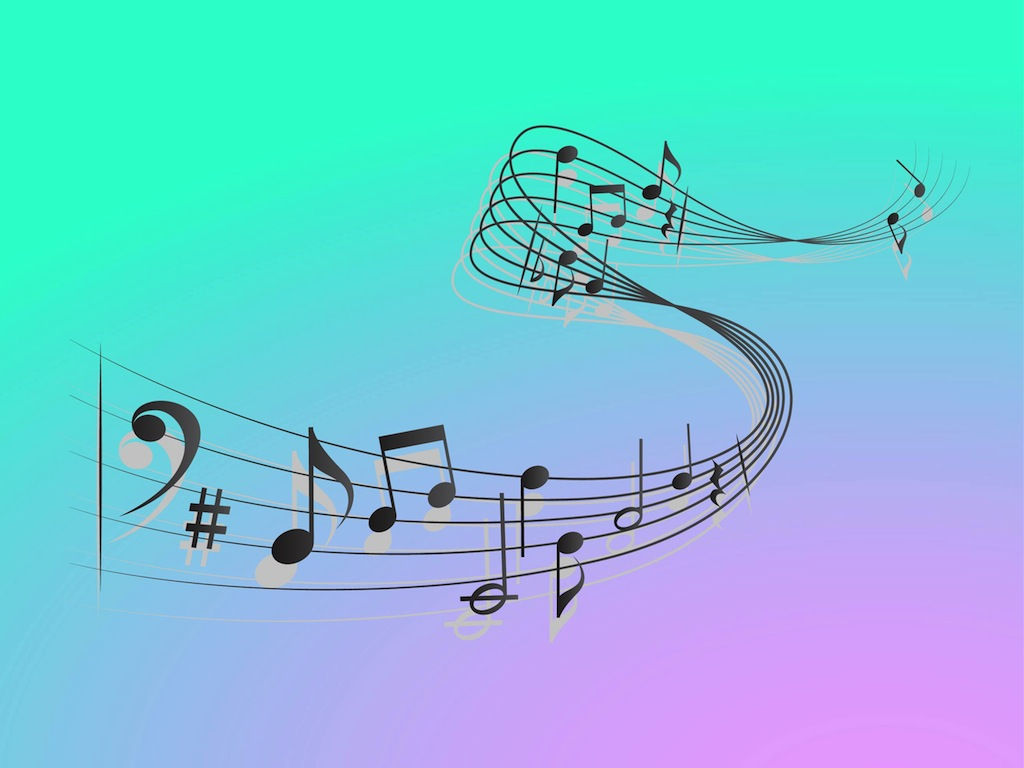 Vector Music Notes Symbols
