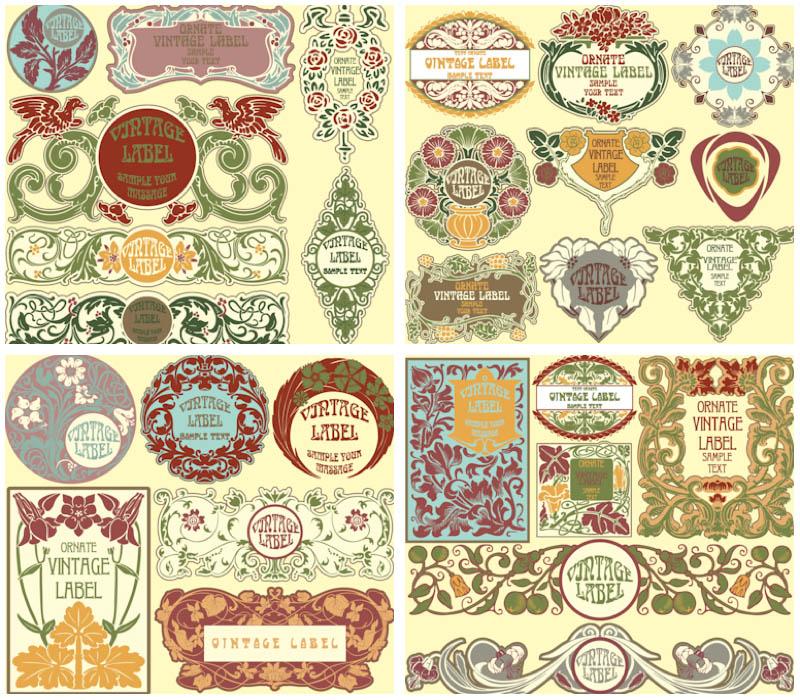 Vector Vintage Label Clip Art