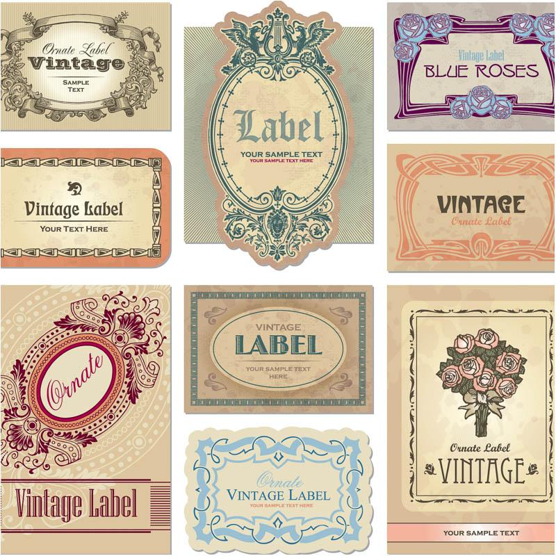 Vector Vintage Labels Design