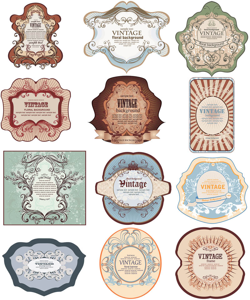 Vector Vintage Labels