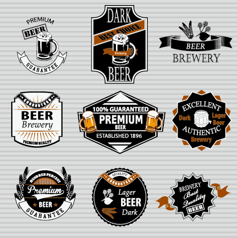 Vintage Beer Label Vector Free