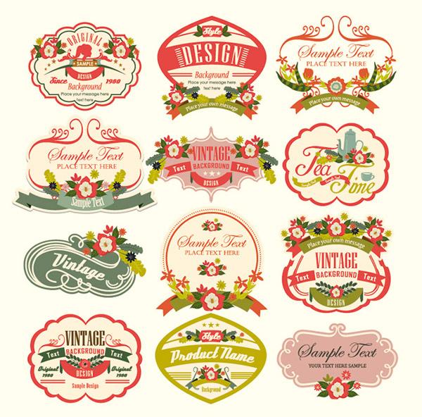 Vintage Flower Logo