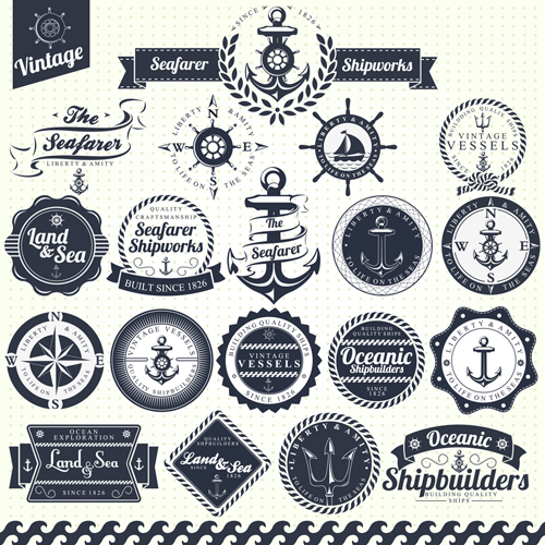 Vintage Nautical Vectors Free