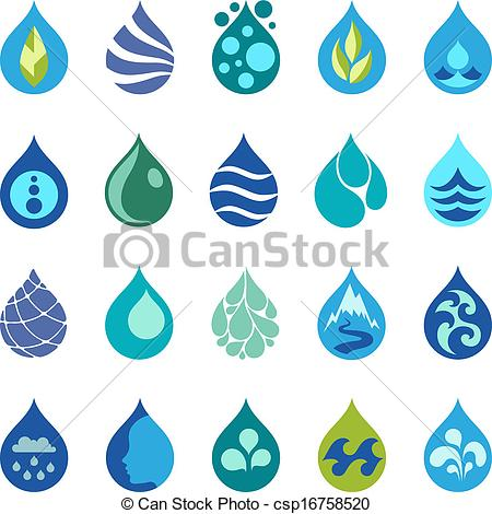 14 Water Drop Line Icon Images