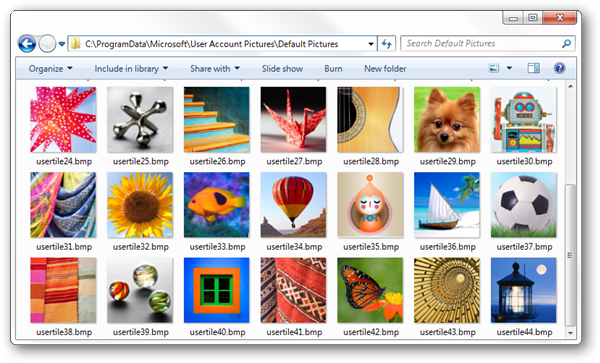 Windows 7 User Account Icon