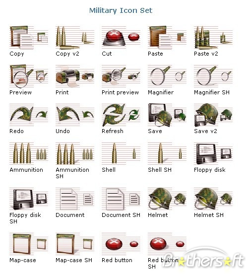 Windows Military Icons