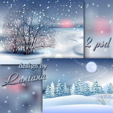 13 Snow PSDs Backgrounds Images