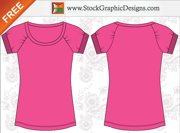 18 Women Shirt Template Vector Free Images