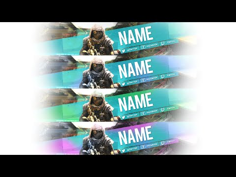 YouTube Banner Template Free