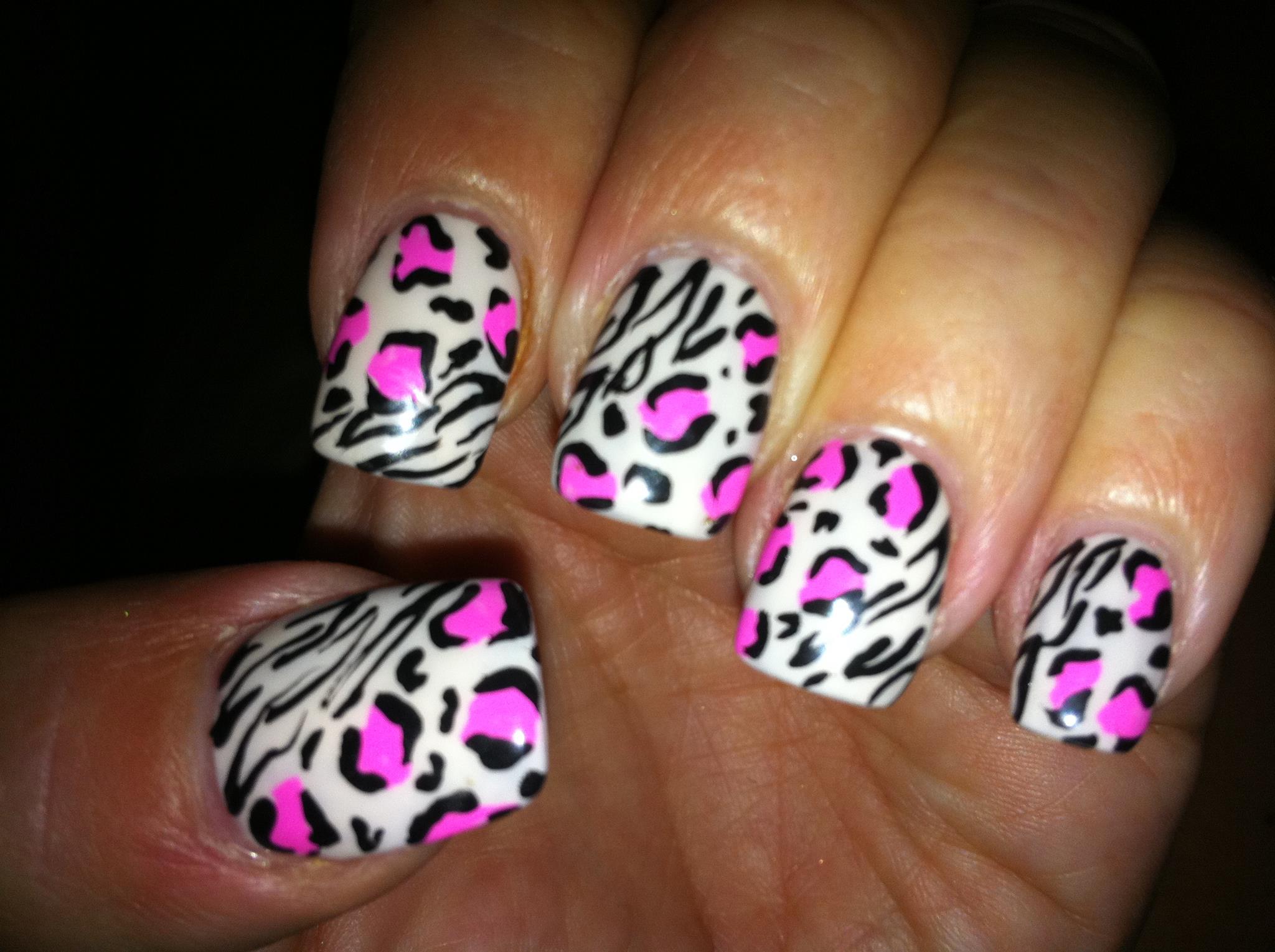 15 pink leopard nail designs images pink leopard print
