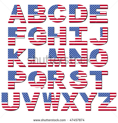 12 Patriotic Fonts In Color Images