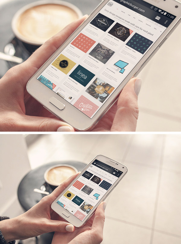 Android Phone Mockup PSD