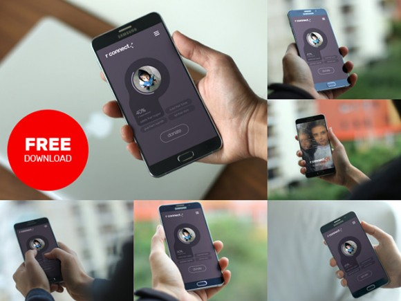 Android Smartphone Mockup PSD