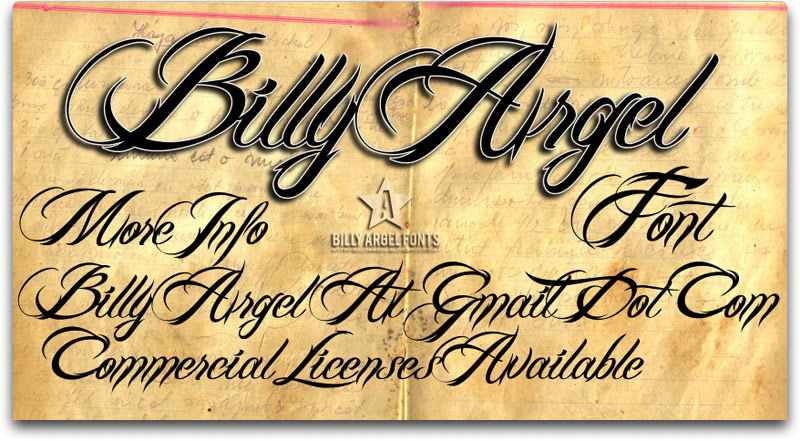 Billy Argel Font Alphabet