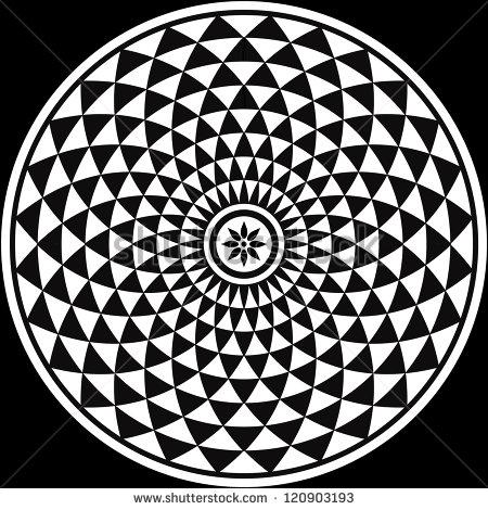 Black and White Circular Design