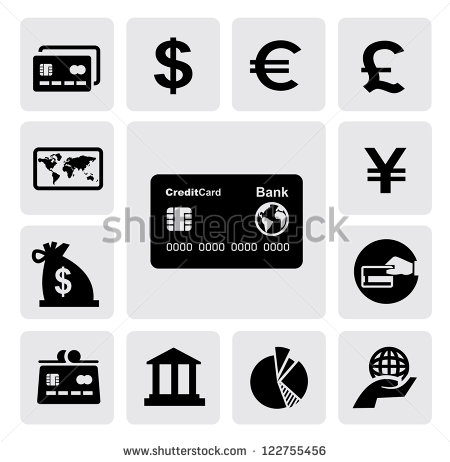 Black and White Credit Card Icon