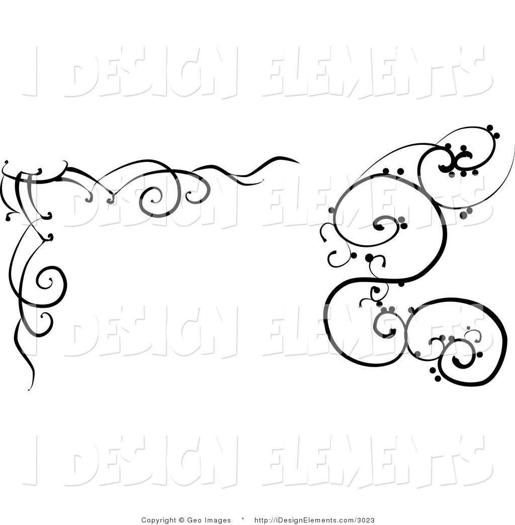 Black and White Designs Clip Art