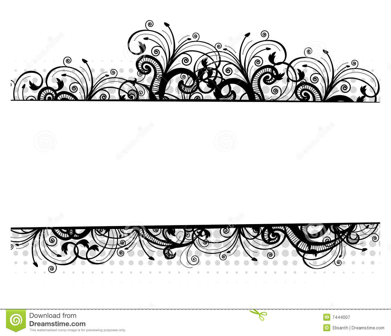 16 Vector Flower Black Border Images - Free Vector Borders ...