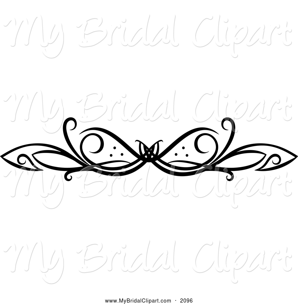Black and White Swirl Border