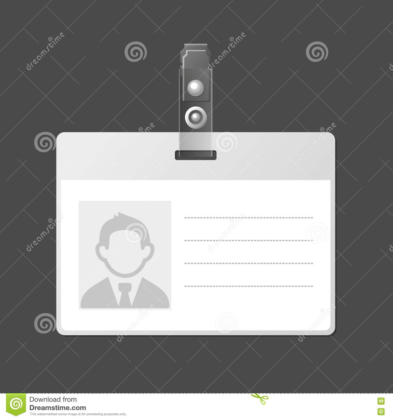 18 blank employee id card template images id card for Free id badges templates