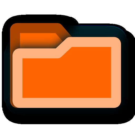 8 Orange Folder Icon Images