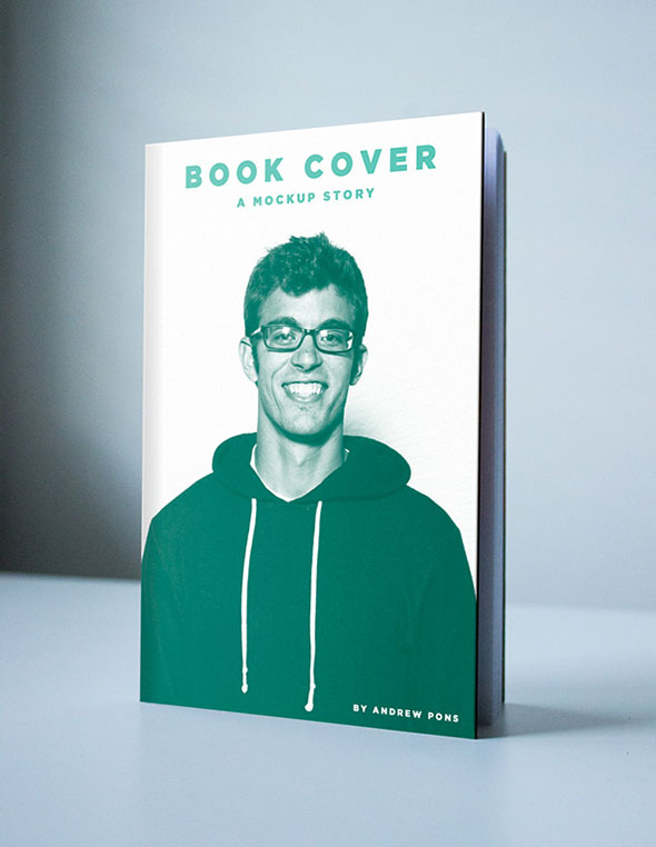 Book Cover Mockup PSD Free Download