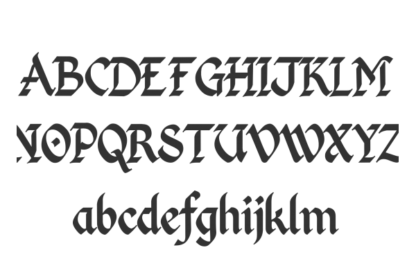 Latin calligraphy font images medieval