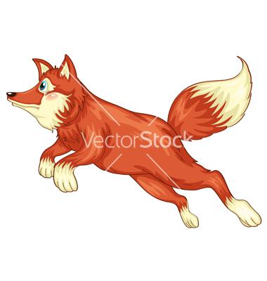 Cartoon Fox Face Illustration