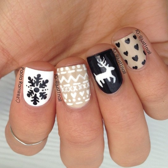 18 Winter Snowflake Nail Art Designs Images