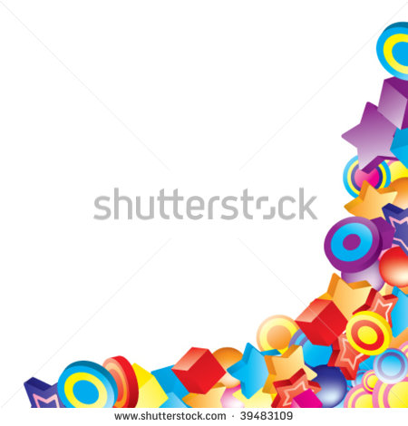 7 Colorful Corner Designs Images - Purple Corner Border ...