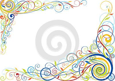 Colorful Swirl Corner Design