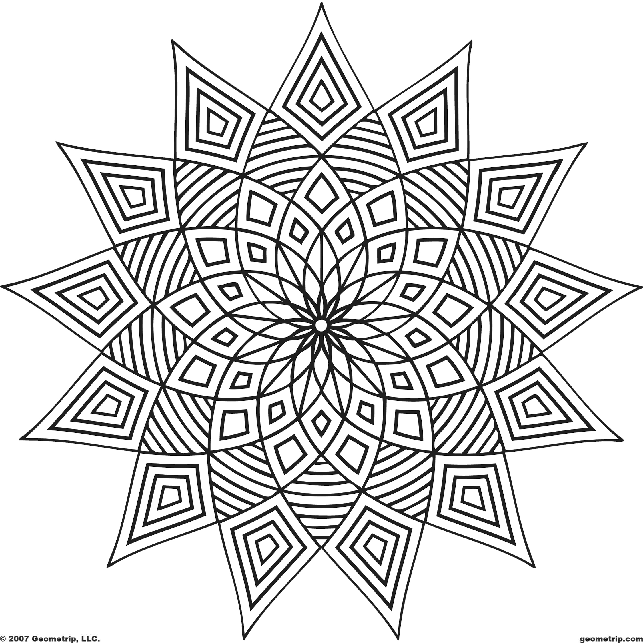 Coloring Page Shape Geometric Designs