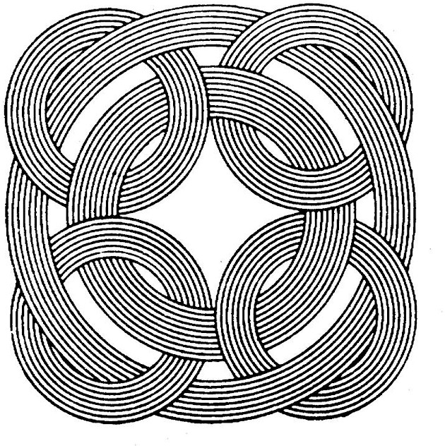 Coloring Page Shape Geometric Patterns
