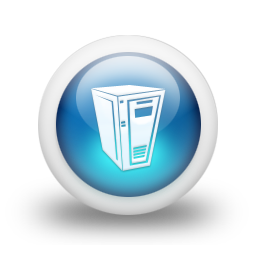 Computer Server Icon Blue