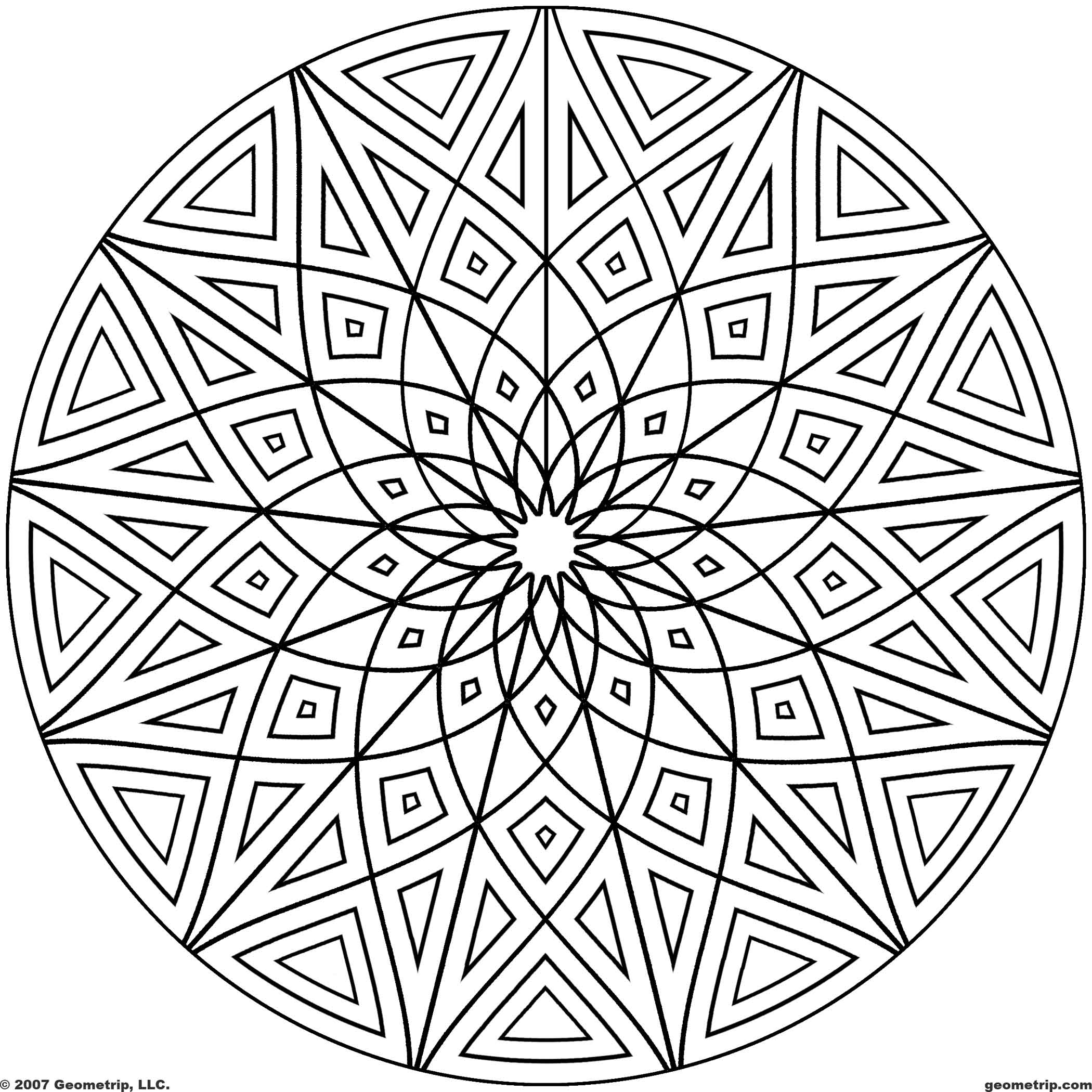 Cool Geometric Designs Coloring Page