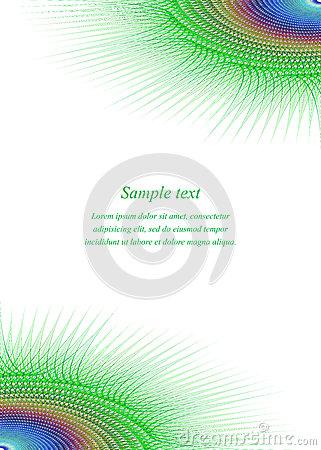 Corner Page Design Template