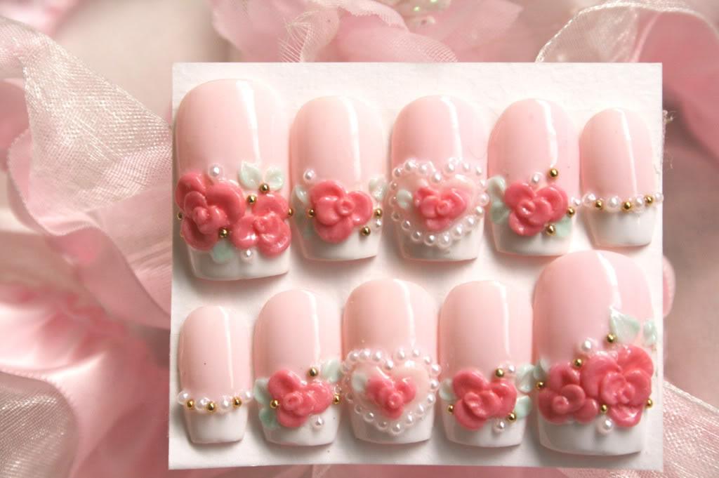 Cute 3D Nail Art Design