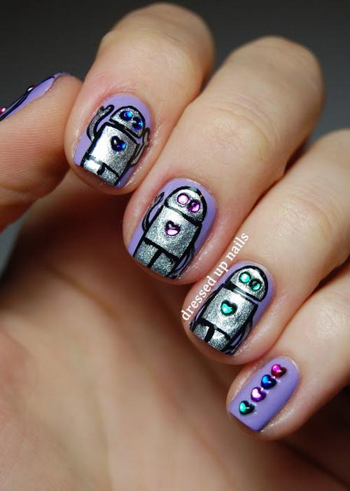 Cute Nail Designs with Rhinestones