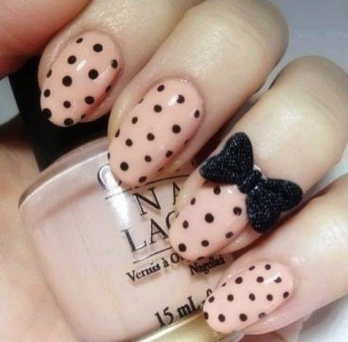 Cute Nails with 3D Bows