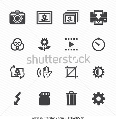 Digital Camera Icons and Symbols