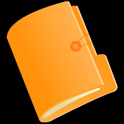 Document Folder Icon Orange