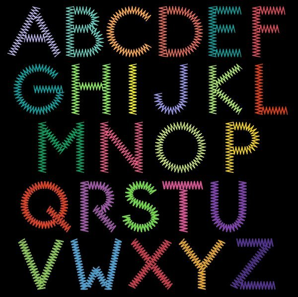 11 Free Font Looks Like Sewing Images - Monogram ...