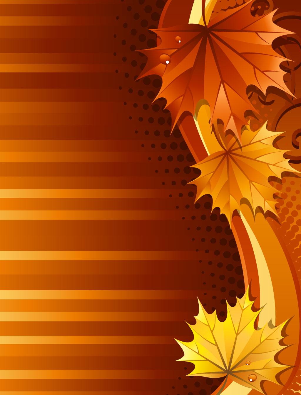 Fall Leaves Border Design
