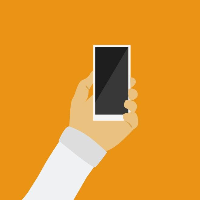 Flat Phone Icon Vector