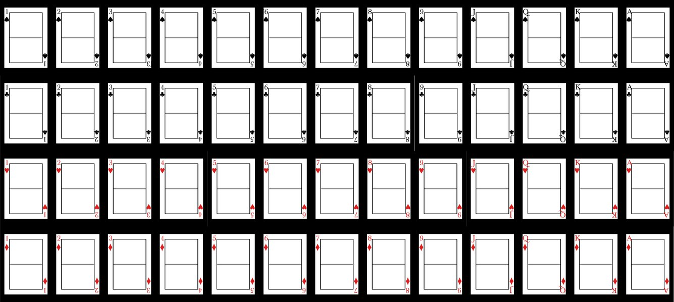 22 Playing Card Design Template Images - Printable Blank Playing Throughout Playing Card Template Illustrator