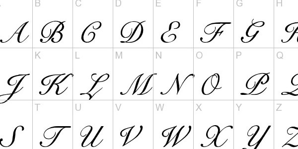 Free Calligraphy Fonts Letters